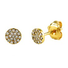 18K Diamant Ohrstecker 0,18ct Diamanten Gold 750 Gelbgold...