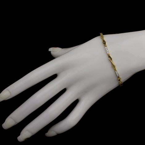 9 Karat Damen Armband Gold 375 Massiv Gelbgold Goldarmband