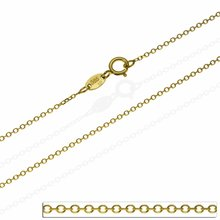 Goldkette Rund Ankerkette Massiv Echt Gold 585 14kt Damen...