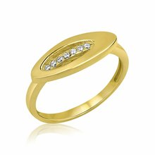 Ring 585er Gold Massiv Gelbgold 14K Damen Breiter Oval...