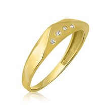 Ring Gold 585 Massiv Gelbgold 14K Damen Band Ehe...