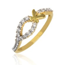Aion Gold Ring 585 Gelbgold 14K Damen Schmetterling...