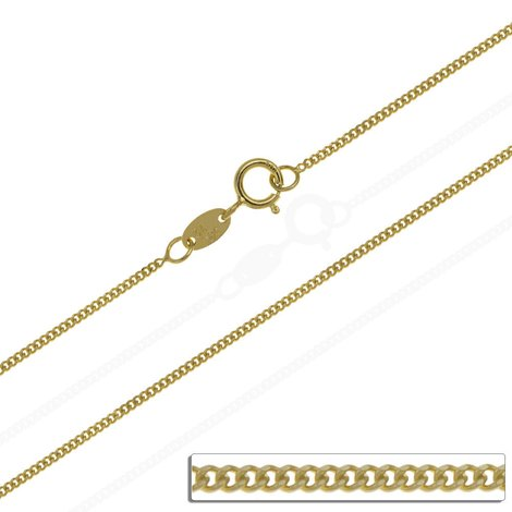 Goldkette Massiv Gold 585 Panzerkette Gelbgold Damen Halskette 40 60 cm 0,9 mm