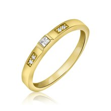 Aion Ring Solitär 585er Gold Massiv Gelbgold 14K Damen...