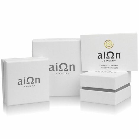 Aion Armband Plättchen Gold 585 Bicolor 14K Damen Kreuzchen Mini Cross 18 cm